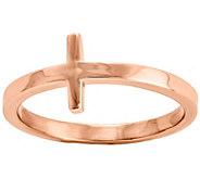 14K Gold Sideways Cross Ring - J390143
