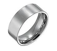 Forza Mens 8mm Steel Flat Polished Ring - J109544