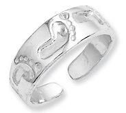 Sterling Footprint Toe Ring - J111444