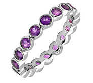 Simply Stacks Sterling Large Amethyst EternityStackable Ring - J298644