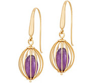 Arte d Oro Caged Gemstone Bead Drop Earrings, 18K Gold - J348844