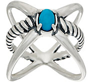Carolyn Pollack Sterling Silver Gemstone XO Ring - J349744
