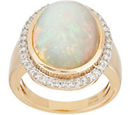 Bold Ethiopian Opal & Diamond Ring, 14K Gold - J350244