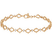 Judith Ripka 14K Gold_Oval Link 1/2 cttw Diamond 7-1/4 Bracelet - J352444