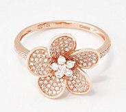 Affinity 14K Gold Diamond Flower Ring, 0.48 cttw - J360544