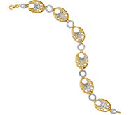 14K Two-tone Bubble 7-1/4 Bracelet, 6.1g - J377244