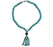 Judith Ripka Sterling Turquoise & Diamonique Tassel Necklace - J379744