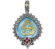 Barbara Bixby Sterling & 18K Gemstone Dragon Enhancer - J380444