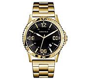 Caravelle Mens Goldtone Stainless Bracelet Sport Watch - J383344