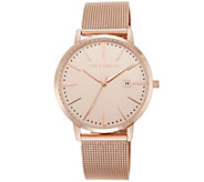 Vince Camuto Womens Rosetone Mesh-Bracelet Watch - J383444