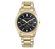 Vince Camuto Mens Multi-Function Goldtone Bracelet Watch - J383544