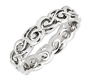 Simply Stacks Sterling Polished Open Scroll Ring - J299145