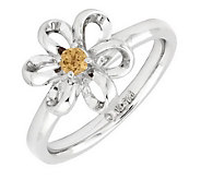 Simply Stacks Sterling Twisted Petals GemstoneFlower Ring - J299245