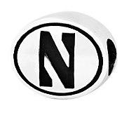 Sterling Silver Northwestern University Bead - J300745