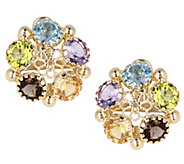 Arte dOro 10.0 cttw Multi-gemstone Earrings, 18K - J342945