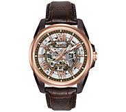 Bulova Mens Automatic Leather Strap Watch - J343945