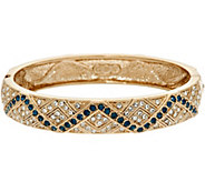 Grace Kelly Collection Simulated Gemstone Hinged Bangle - J346345