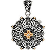 Barbara Bixby Sterling/18K Round Textured Locket Enhancer - J349845
