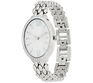 Diamonique Pave Oval Watch - J349945