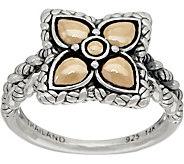 JAI Sterling & 14K Gold Lotus Petal Flower Ring - J350145