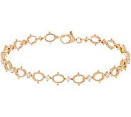 Judith Ripka 14K Gold_Oval Link 1/2 cttw Diamond 8 Bracelet - J352445