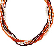 Grace Kelly Collection Torsade Earthtone Necklace - J355145