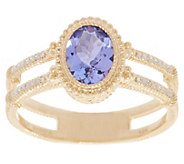 Judith Ripka 14K Gold Gemstone & Diamond Ring - J355345