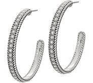 JAI Sterling Silver Kalahari 1-1/2 Hoop Earrings - J355645