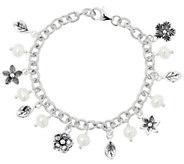Or Paz Sterling Silver Pearl Charm Bracelet - J357145