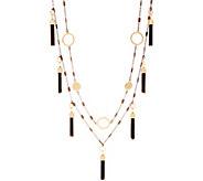 Belle by Kim Gravel EmBELLEish Metallic Tassel Necklace - J358145