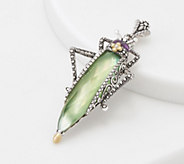 Barbara Bixby Sterling & 18K Gemstone Grasshopper Enhancer - J360545