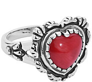 American West Sterling Gemstone Heart Ring - J385245