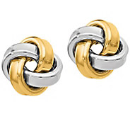 14K Gold Polished Love Knot Earrings - J385545