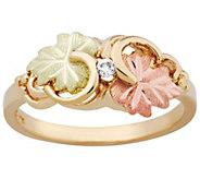 Black Hills Gold Double Swirl Leaf Ring, 10K/12K Gold - J390045