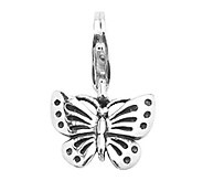 Prerogatives Sterling Butterfly Click-on Charm - J109146