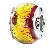 Prerogatives Sterling Orange Dichroic Glass Bead - J113346