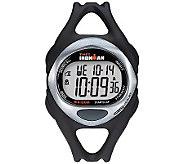 Timex Unisex Black Ironman 50-Lap Watch w/ Indiglo - J308846