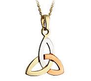 Solvar Tricolor Gold Trinity Knot Pendant, 14K - J311346
