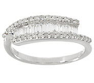Baguette & Round Diamond Ring, Sterling, 1/2 cttw, by Affinity - J346346