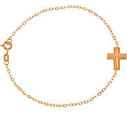 Italian Gold Cross Line Bracelet 14K Gold - J347346