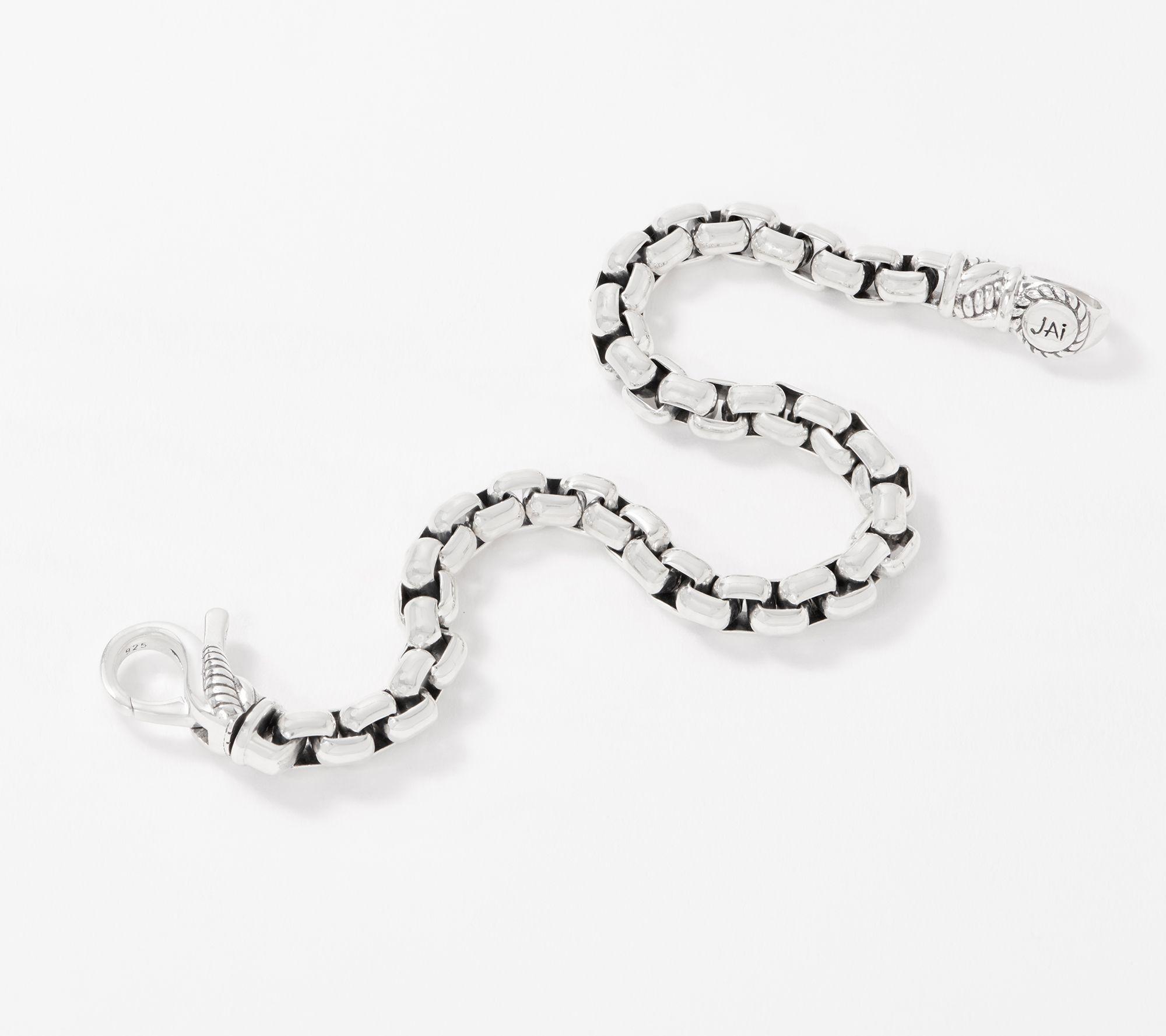f4a5845b55e7a JAI Sterling Silver 5.3mm Round Box Chain Bracelet