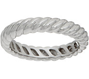 Sterling Ribbed Design Band Ring by Silver Style - J351946