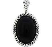 Tiffany Kay Studio Sterling Silver Black Onyx Enhancer - J352346