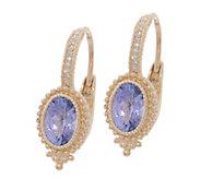 Judith Ripka 14K Gold Gemstone & Diamond Earrings - J355346