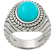 JAI Sterling Silver Basketweave Gemstone Ring - J355646