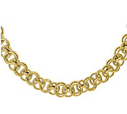 14K Gold Double Circular Link Necklace, 25.6g - J378646