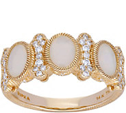 Judith Ripka 14K Gold Opal & Diamond Ring - J379946