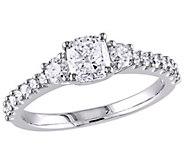 Affinity 14K Gold 1.20 cttw Cushion Diamond 3-Stone Ring - J381346