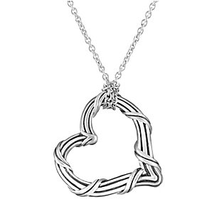 Peter Thomas Roth Sterling Signature Heart Pendant