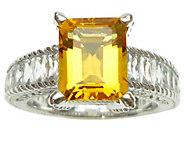 Judith Ripka Sterling Diamonique and Gemstone Ring - J341547
